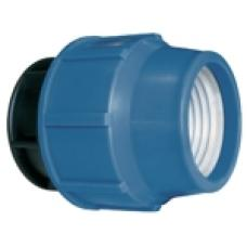 KPE záróidom műanyag 25mm kék