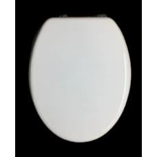 MDF fehér wc ülőke fémpánttal
