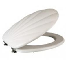 Kagyló mintás fehér wc ülőke