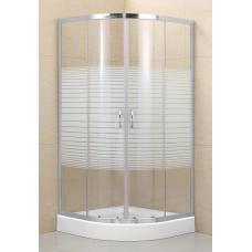 Duna íves zuhanykabin (80x80) zuhanytálcával szifonnal